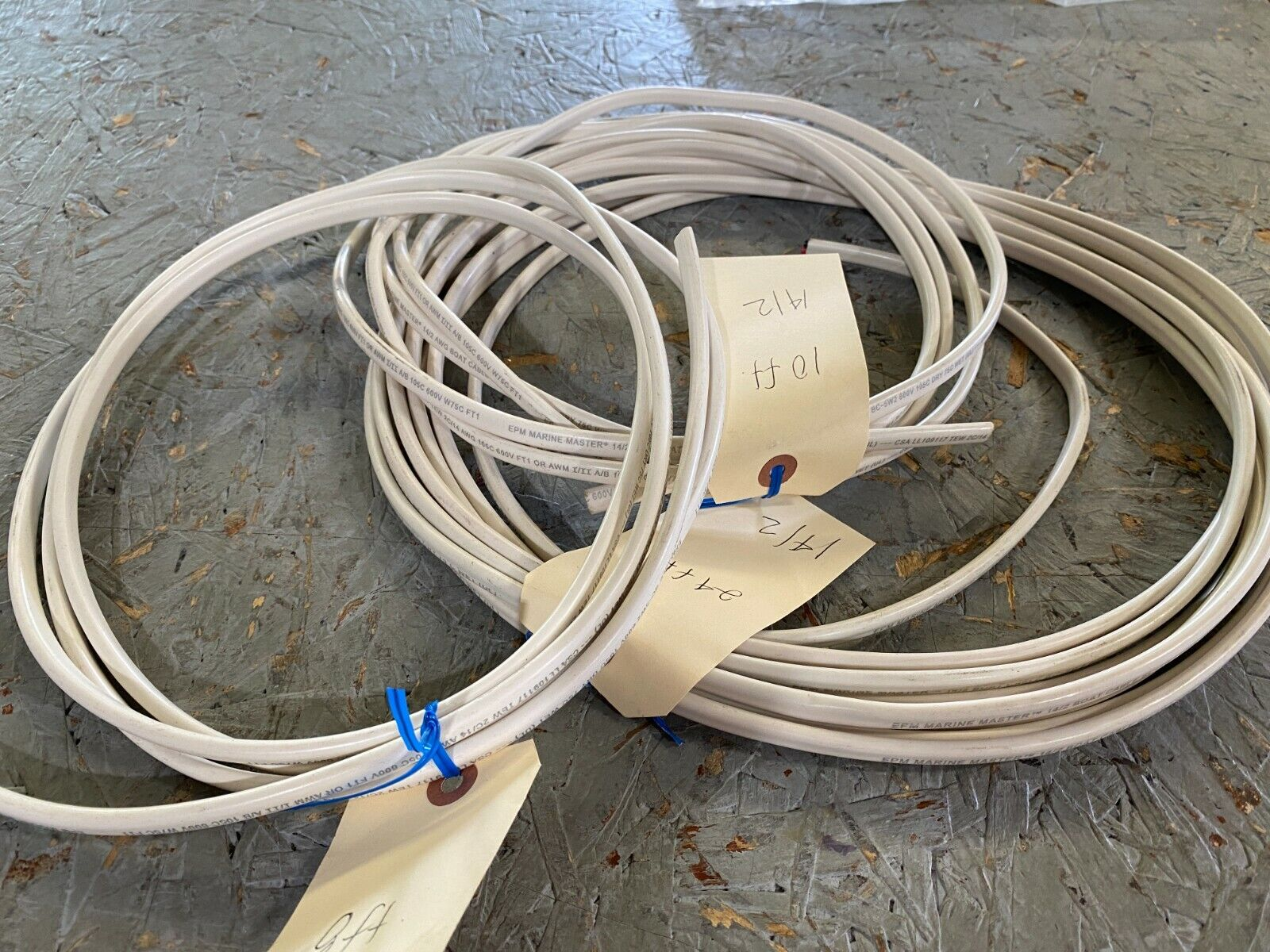14/2 AWG MARINE MASTER FLAT DUPLEX TINNED COPPER BOAT CABLE LOT 6 Boat Parts