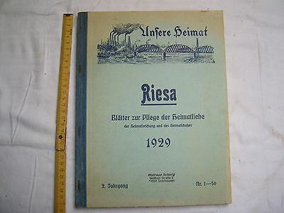 Unsere Heimat , Riesa , Blätter zur Pflege der Heimatliebe , gebunden , 1929