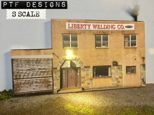 "S Scale Scratch Built ""Liberty Welding"" Pittsburgh Building Flat /American Flyer"