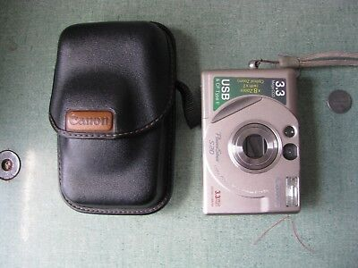 Canon PowerShot S20 3.3 Mega CCD  Digital Camera 2 X Optical Prism F/S 8xZoom