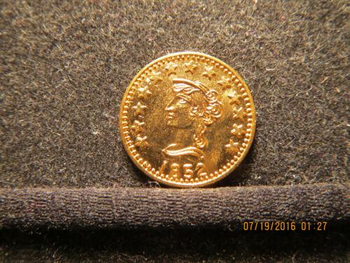 1852 california gold token 1/2 Round