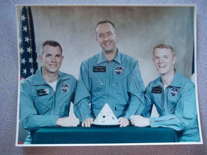 Vintage NASA #rd Apollo 9 Crew Photo w/Scott/McDivitt/Schweickart