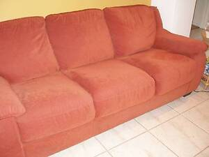 SOFA-3 SEATER .RUST COLOUR FABRIC. OPENS TO BED.EXCELLENT QUALITY Booragoon Melville Area Preview