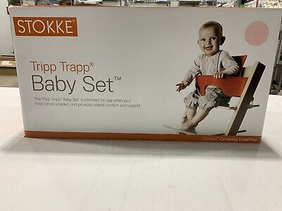 NIB Stokke Tripp Trapp Baby Set PINK 144601 Child Toddler For High Chair