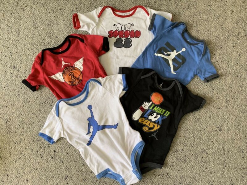 82296f846bc 5 x Air Jordan Baby Infant Bodysuits 9-12 Months