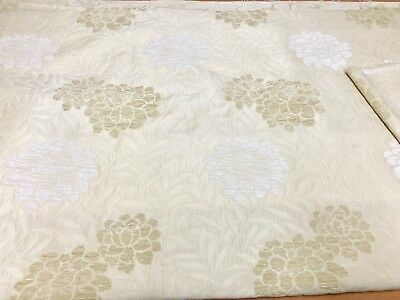SAMUEL SIMPSON CREAM CHENILLE CURTAIN UPHOLSTERY FABRIC 4 METRES!!