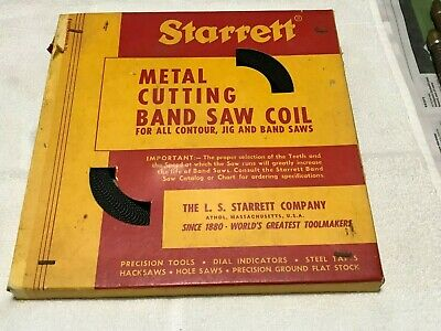Starrett Metal Cutting Band Saw Coil 80 Ft.10 Tpi. Reg.set From Old Stock