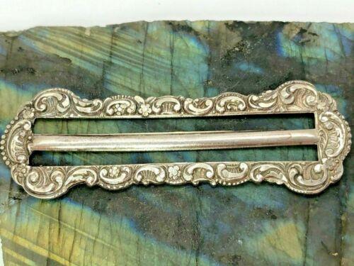 Vintage Sterling Silver Ornate Floral Flower Scarf Clip 6.5 Grams