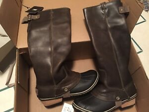 Sorel leather and rubber boots