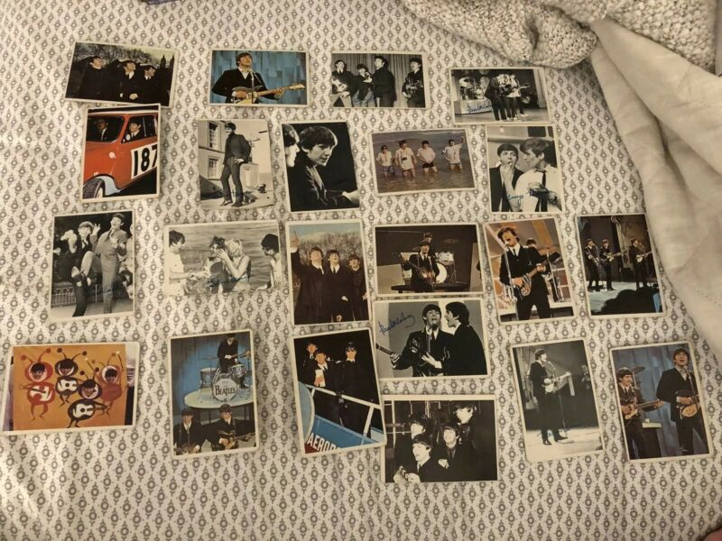 22 Vintage 1960's The Beatles  Topps Trading Cards Lot