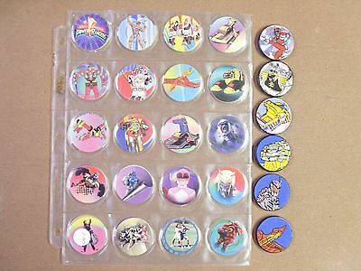 POGS  POWER RANGERS SERIES 2 SET/LOT OF  (40+ 6 SLAMMERS)   AWESOME - Power Rangers Awesome