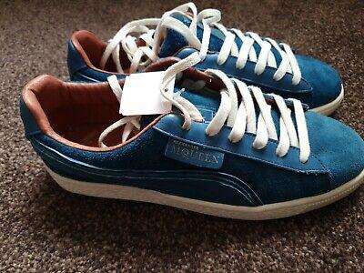 PUMA Men's Alexander McQueen AMQ Suede Blue  355571 04 BRAND NEW IN BOX