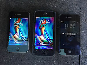 2 X IPhone 4 and 1 X iPhone 5 Stanhope Gardens Blacktown Area Preview