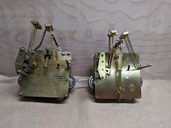 2 Hermle Westminster chime 451 series floor clock movements for parts or repair