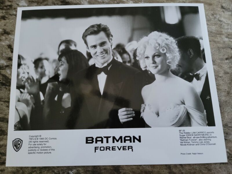 Batman Forever original movie photo  #25 - Jim Carrey, Drew Barrymore - 8 x 10