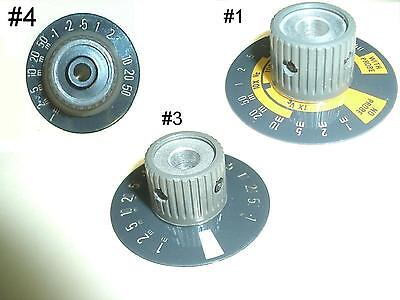 Tektronix Tek Knobs With Skirt Dark Grey Voltsdiv And Timediv