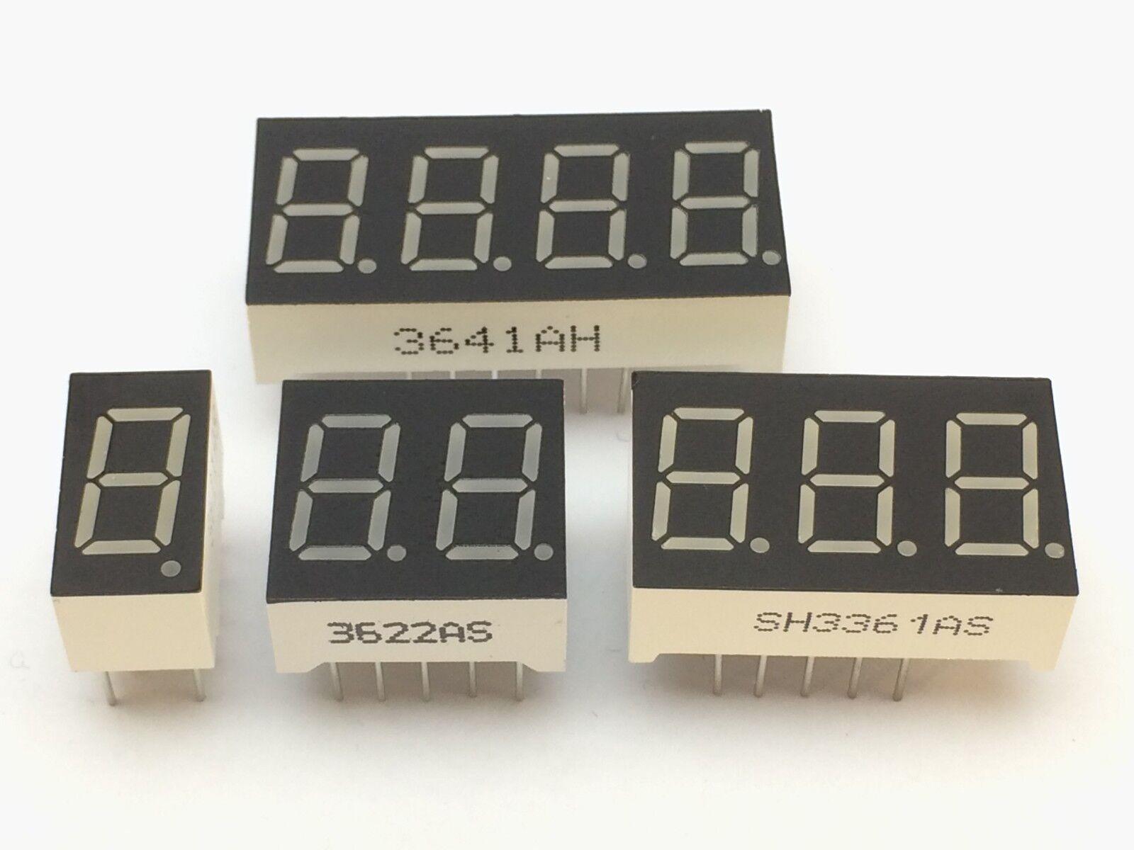 7-Segment Anzeige   9mm   1-,2-,3-,4-Ziffern   Gemeinsame Anode/Kathode  display