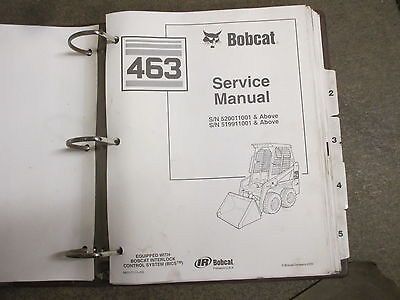 Bobcat 463 Skid Loader Repair Service Manual