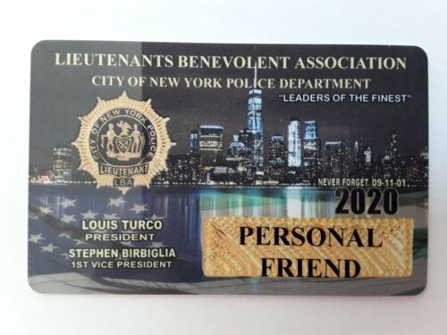 ! AUTHENTIC 2020 LBA LIEUTENANTS  PERSONAL FRIEND CARD  NOT CEA SBA DEA PBA CARD