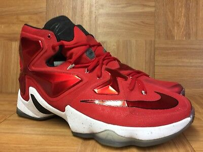 995ca2dca80 RARE🔥 Nike LeBron 13 XIII University Red Sz 12 807219-610 Mens Basketball  Shoes