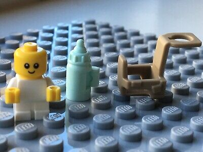 NEW LEGO Baby Minifigure, Bottle + Carrier: 3 Colours, baby shower infant - Lego Baby Shower