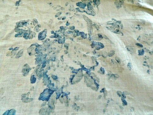 Ralph Lauren Jardin Floral Artist Blue Linen Blend Fabric Shabby Chic  BTY /UK