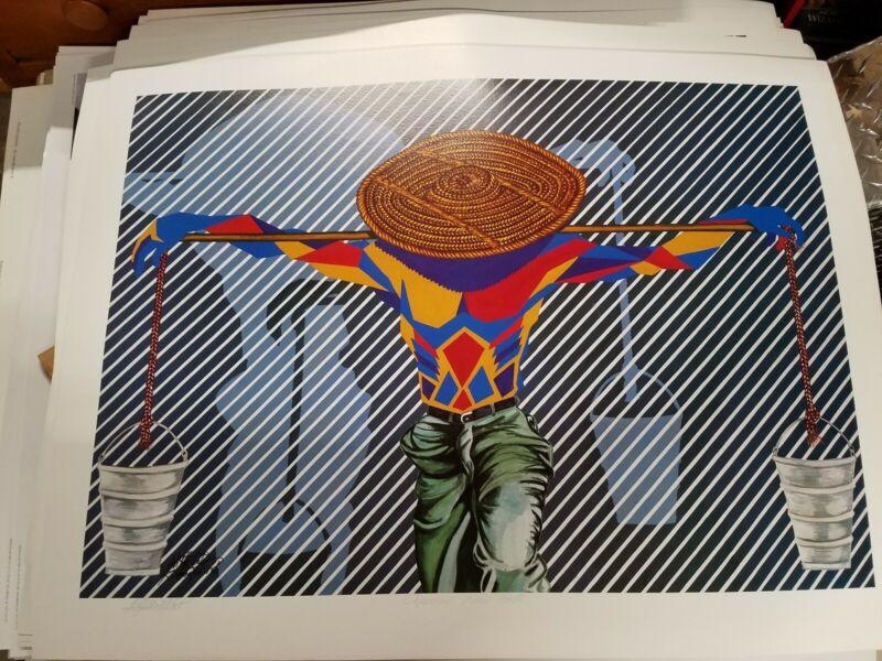 Aquarius New Birth William Kwamena-Poh African American Art Print HAND SIGNED