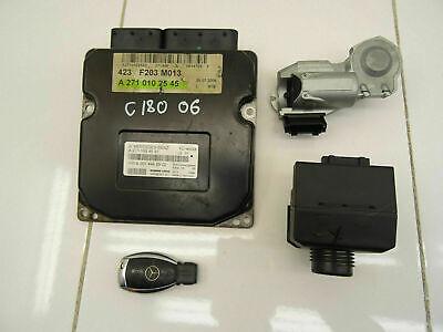 2006 Mercedes C180 kompressor engine ECU kit with ignition & key A2710102545