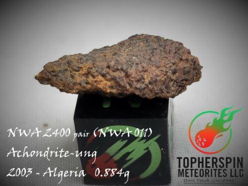 NWA 2400 Meteorite 0.884g Achondrite (paired to NWA 011 Tenereite) NICE crystals