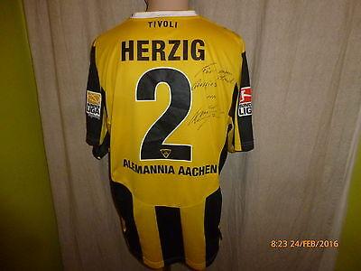 Alemannia Aachen Nike Matchworn Trikot 2009/10 + Nr.2 Herzig + Handsigniert Gr.L image