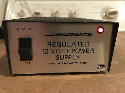 Vintage Micronta Regulated 12 Volt Power Supply Cat. No. 22-124a Used