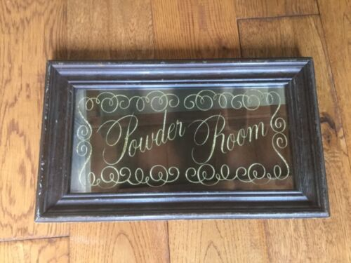 "Novelty 1970s Cocaine ""Powder Room"" ornate mirror."