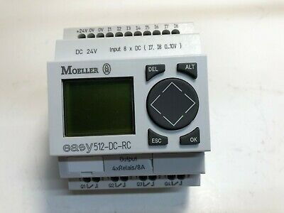Moeller Easy512-dc-rc Programmable Relay 24vdc 8 In 4 Out