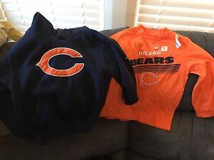 Chicago Bears shirts size xs/5