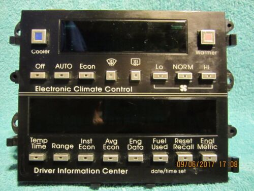 SHIPS SAME DAY! GM 16135056 Climate Control Mod & Driver Information Center