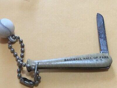 Vintage National Baseball Hall of Fame Louisville Slugger Keychain Baseball Bat