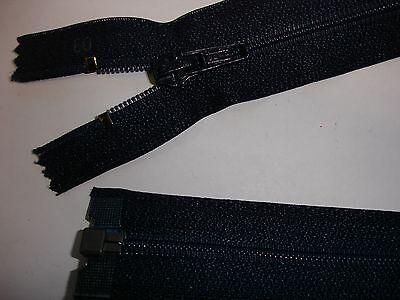 RV 320 Reißverschluß opti dunkelblau 60cm, teilbar 1 Stück