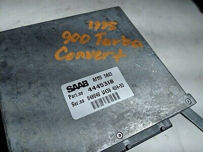 1995 95 Saab 900 Turbo Convertible ECU ECM Engine Computer 4445318 Trionic 5, used for sale  Reading