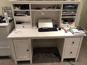 Ikea HEMNES White desk with add-on unit - Excellent condition Surry Hills Inner Sydney Preview