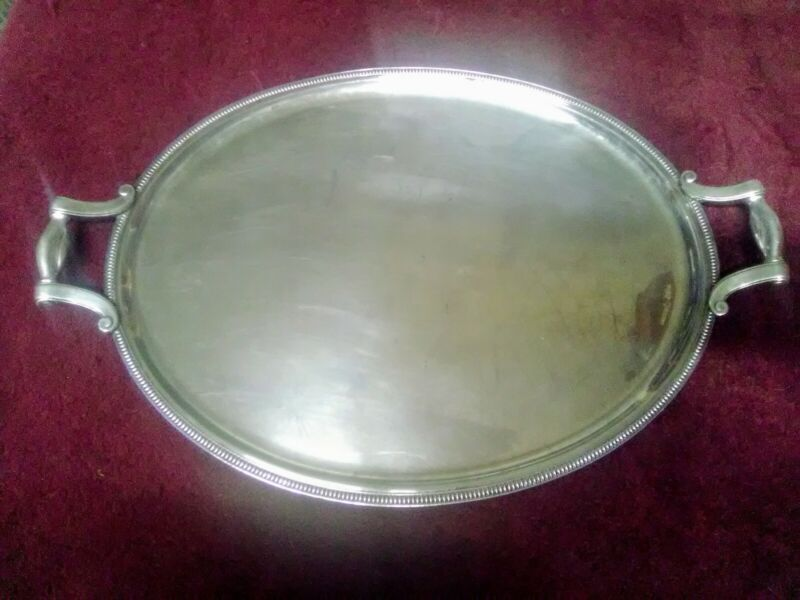 CHRISTOFLE  SILVER PLATED LARGE OVAL SERVING TRAY