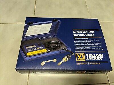 New Yellow Jacket 69075 Superevac Lcd Full Range Vacuum Gauge