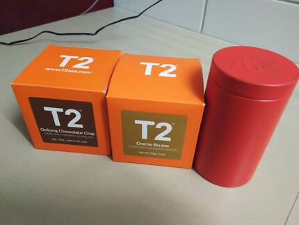 T2 tea and canister