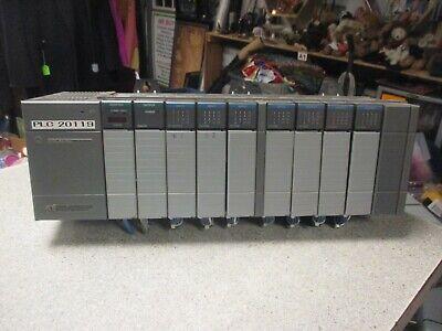 Allen-bradley Slc 500 10-slot Rack Lot Adapter Input Output Cards 1746 10
