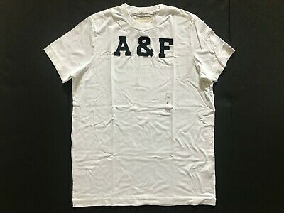 NWT Abercrombie & Fitch Men's T-Shirts Muscle Fit Vintage White Size XL