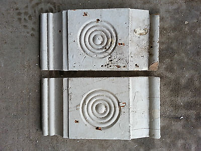 Antique Bullseye Hand-carved ? Architectural Salvage Painted-chippy farmhouse #4