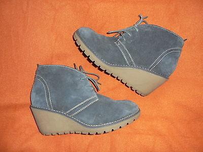 Wildleder Ankle Boot Bootie (s Oliver Damen Wildleder Stiefeletten Ankle Boots Booties Keilabsatz Gr 40)