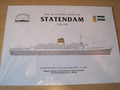 Passagierschiff Statendam  1:250 lang Kartonbausatz NEU Bastelbogen