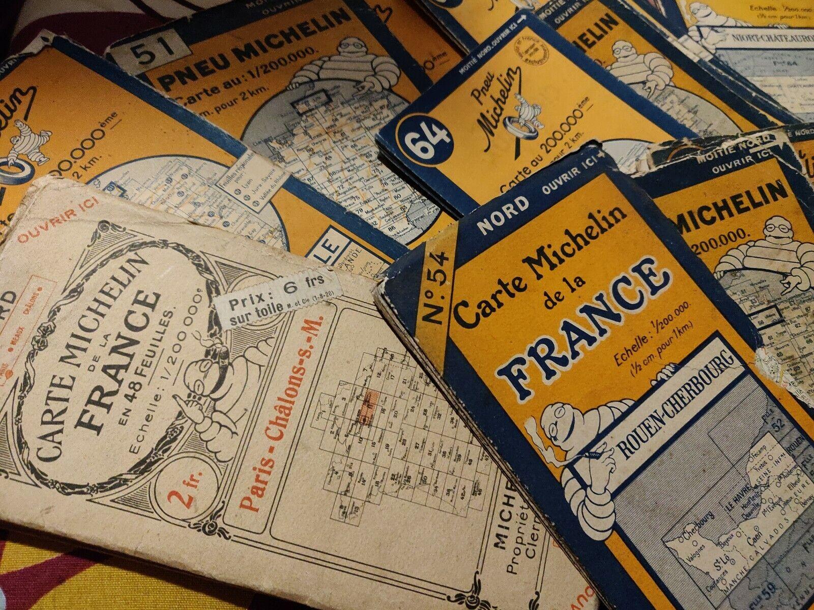 3eme annonce cartes routières michelin 1920 à 2002 date détaillée guide rouge