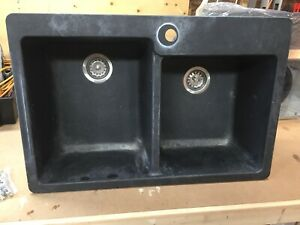 Used Blanco  Granite double bowl sink