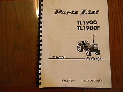 Iseki Tl1900 And Tl1900f Tractor Parts Manual